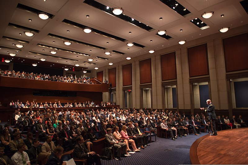 Inside US Congressional Auditorium